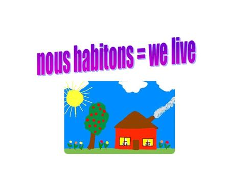 MON QUARTIER Nous habitons en ville We live in a town/city.