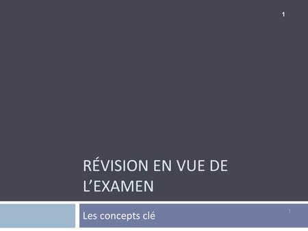 RÉVISION EN VUE DE LEXAMEN Les concepts clé 1 1. Le marketing American Marketing Association : Le marketing est une fonction organisationnelle et un ensemble.