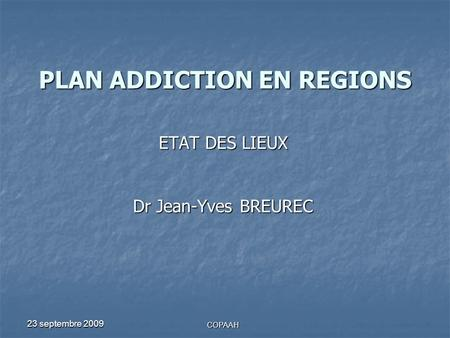 PLAN ADDICTION EN REGIONS