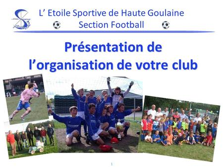 L' Etoile Sportive de Haute Goulaine Section Football
