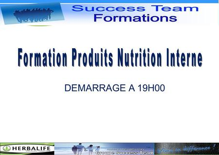 Formation Produits Nutrition Interne