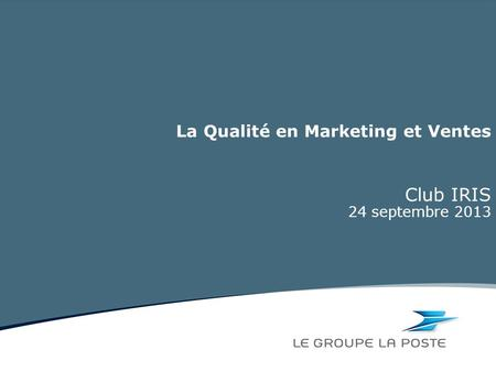 La Qualité en Marketing et Ventes
