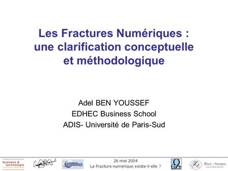 Adel BEN YOUSSEF EDHEC Business School ADIS- Université de Paris-Sud