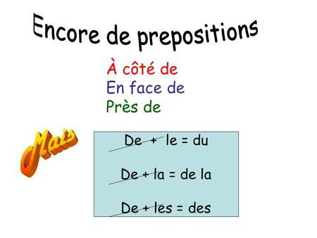 Encore de prepositions
