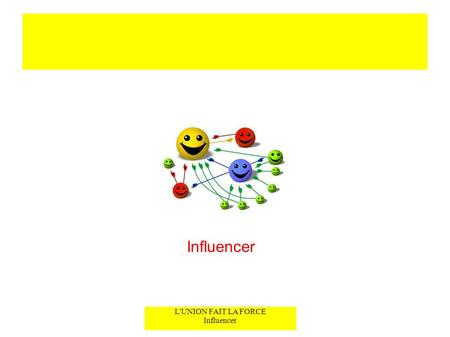 L'UNION FAIT LA FORCE Influencer Influencer. INFLUENCER OU NE PAS INFLUENCER ? L'UNION FAIT LA FORCE Influencer Titre Original : « How To Make Friends.