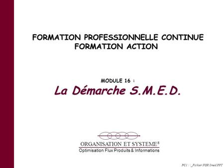 FORMATION PROFESSIONNELLE CONTINUE