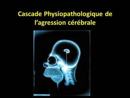 Cascade Physiopathologique de l'agression cérébrale