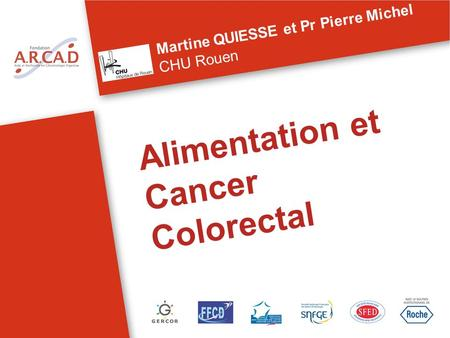 Alimentation et Cancer Colorectal