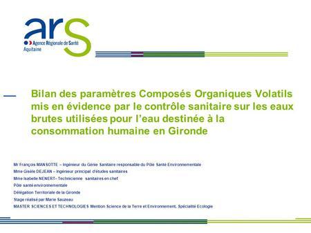 Introduction objet plan ppt t l charger - Composes organiques volatils ...