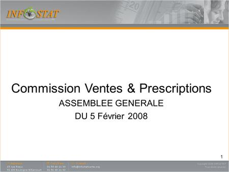 Commission Ventes & Prescriptions