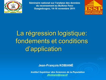 La régression logistique: fondements et conditions d'application