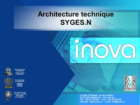 Architecture technique SYGES.N