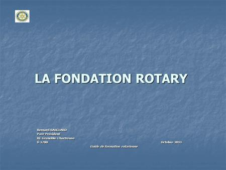 Guide de formation rotarienne
