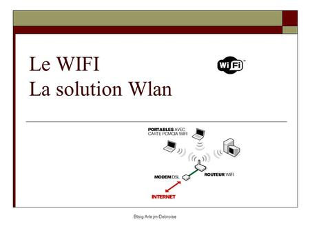 Le WIFI La solution Wlan