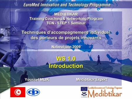 WS 1.0 Introduction Youssef MLIK Medibtikar Expert