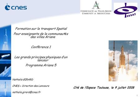 Formation sur le transport Spatial
