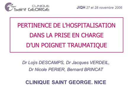 CLINIQUE SAINT GEORGE. NICE