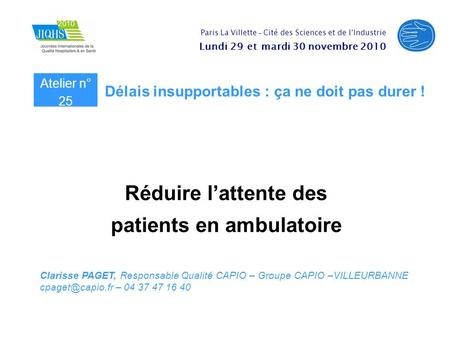 patients en ambulatoire
