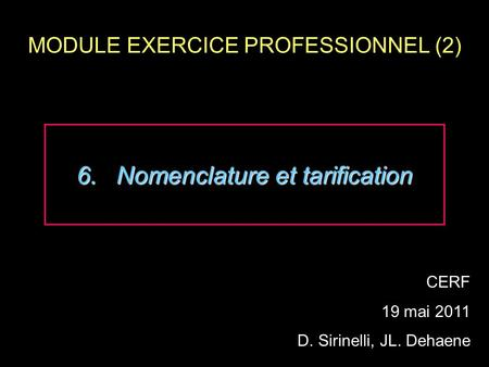 MODULE EXERCICE PROFESSIONNEL (2)