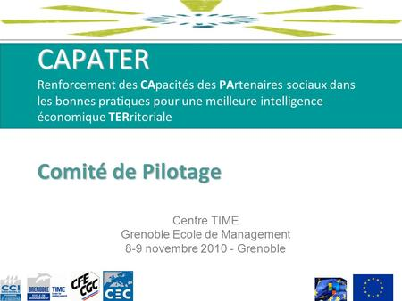 Centre TIME Grenoble Ecole de Management 8-9 novembre Grenoble