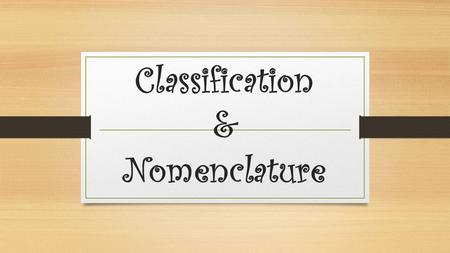 Classification & Nomenclature. Introduction La classification des roches est un des aspects fondamentaux de la géologie en général.