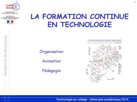 LA FORMATION CONTINUE EN TECHNOLOGIE