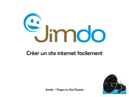 Créer un site internet facilement Jimdo – Pages to the People.