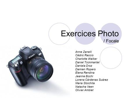 Exercices Photo / Focale