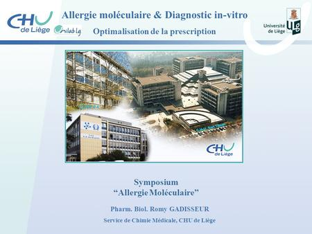Allergie moléculaire & Diagnostic in-vitro
