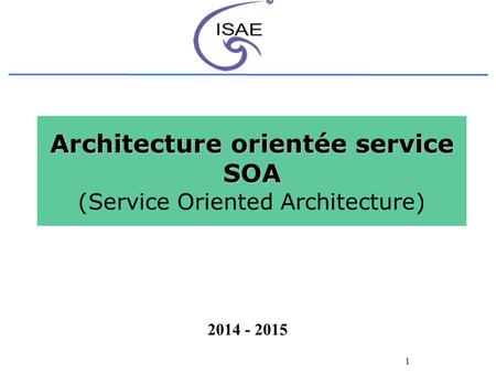 Introduction l architecture orient e service ppt for Architecture orientee service