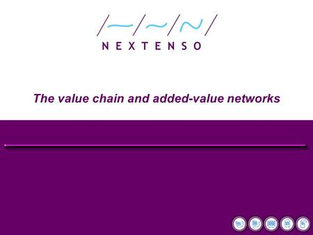 The value chain and added-value networks