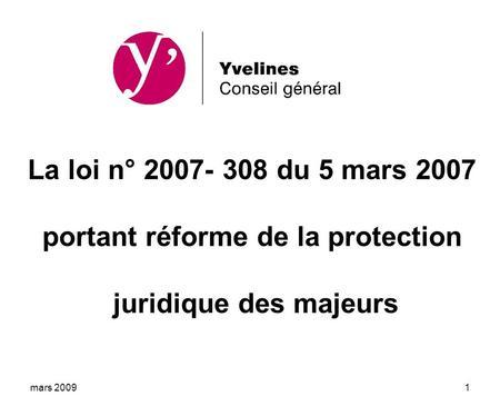 projet loi portant reforme protection juridique majeur