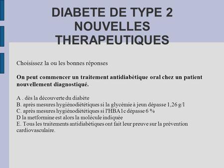 la diabète type 2