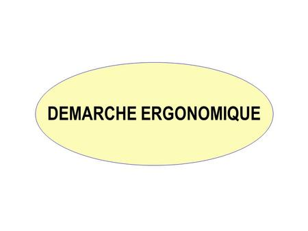 DEMARCHE ERGONOMIQUE.