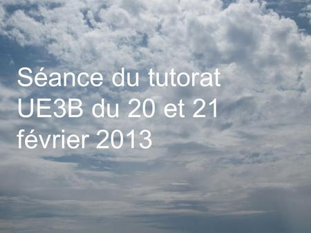 Séance du tutorat UE3B du 20 et 21 février 2013. Question 1 Calculer la valeur du coefficient de tension superficielle d'un liquide newtonien de 1789.
