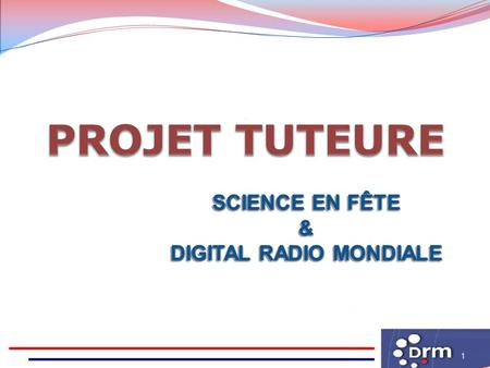 1 SCIENCE EN FÊTE & DIGITAL RADIO MONDIALE SCIENCE EN FÊTE & DIGITAL RADIO MONDIALE.