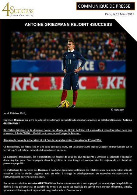 ANTOINE GRIEZMANN REJOINT 4SUCCESS