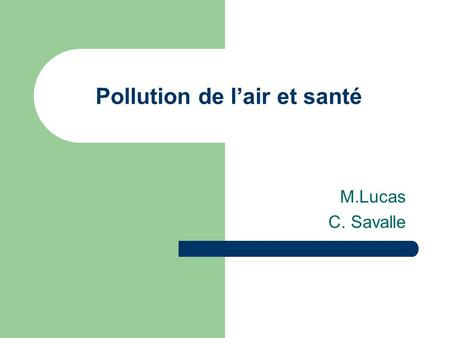 Pollution de l'air et santé