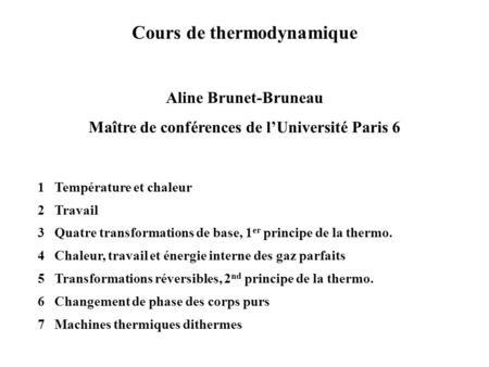 Diagramme thermodynamique p h courbes ppt video - Grille indiciaire maitre de conference ...