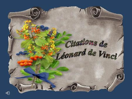 Citations de Léonard de Vinci.