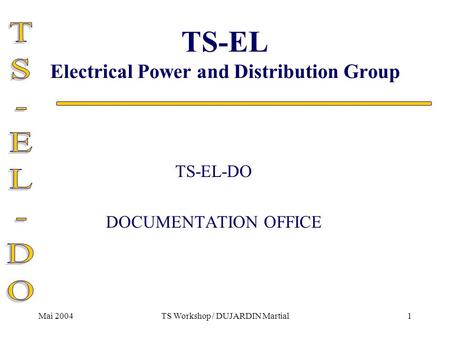 TS-EL Electrical Power and Distribution Group