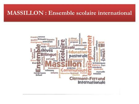 MASSILLON : Ensemble scolaire international