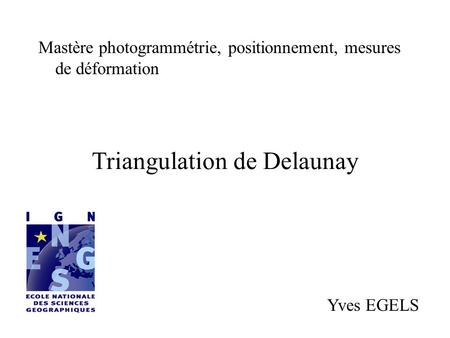 Triangulation de Delaunay