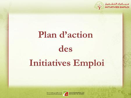 Plan d'action des Initiatives Emploi.