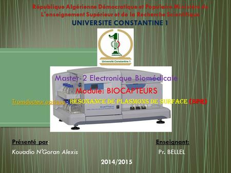 Master 2 Electronique Biomédicale