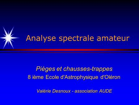 Analyse spectrale amateur