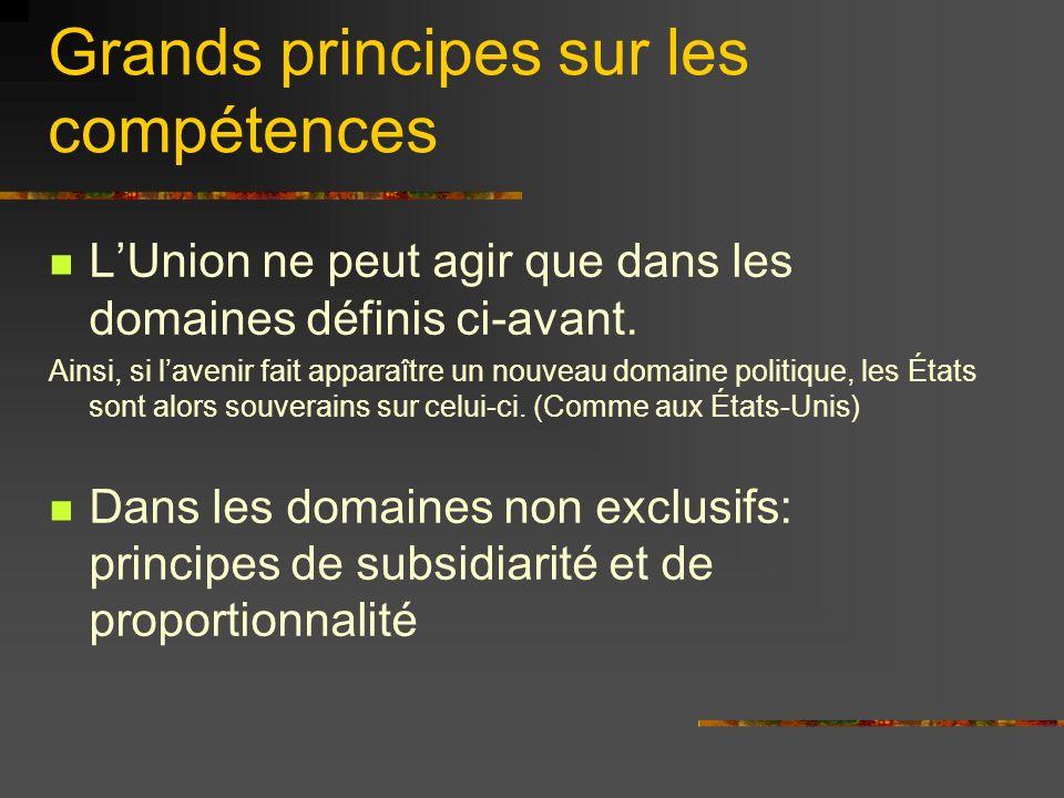 Le principe de proportionnalité « Le contenu et la forme de laction de lUnion nexcèdent pas ce qui est nécessaire pour atteindre les objectifs de lUnion »