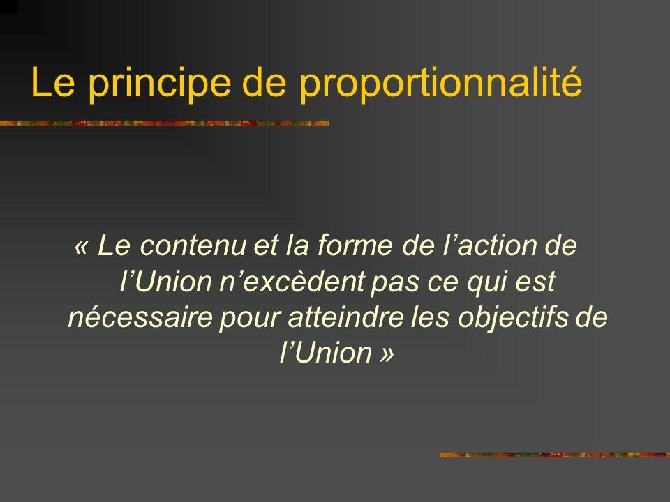 Le principe de subsidiarité LUnion nintervient que si laction ne peut pas être menée tout aussi efficacement à léchelon national ou localement Les Parlements nationaux veillent au respect de ce principe Cest le fameux rôle des Parlements dont les tenants du oui parlent beaucoup.