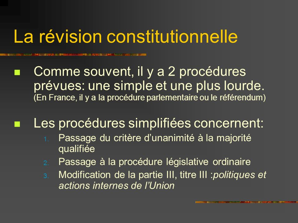 Les procédures de révision simplifiée 1.