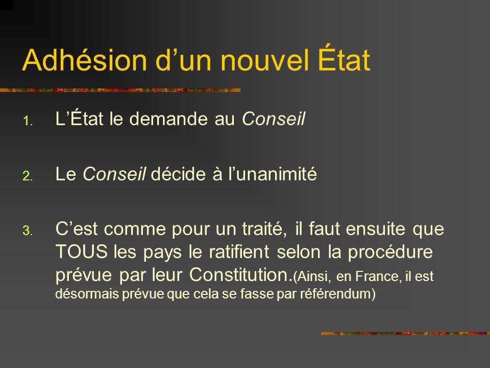 Retrait volontaire de lUnion Le cas est prévue par la Constitution.